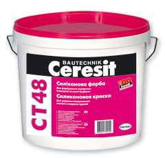 Фасадная силиконовая краска Ceresit CT 48
