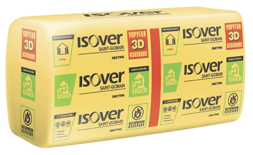 Упругая 3D изоляция для стен ISOVER Экстра