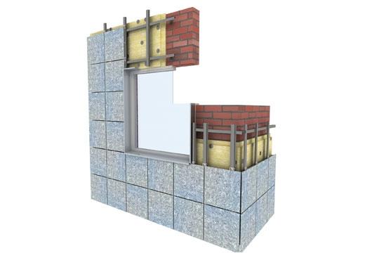 Вентилируемый фасад из керамогранита и композита